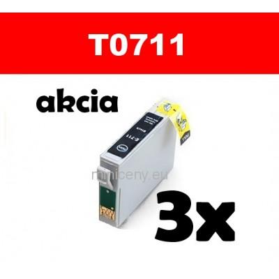 3x T0711 čierna - 18 ml náplň do tlačiarne EPSON