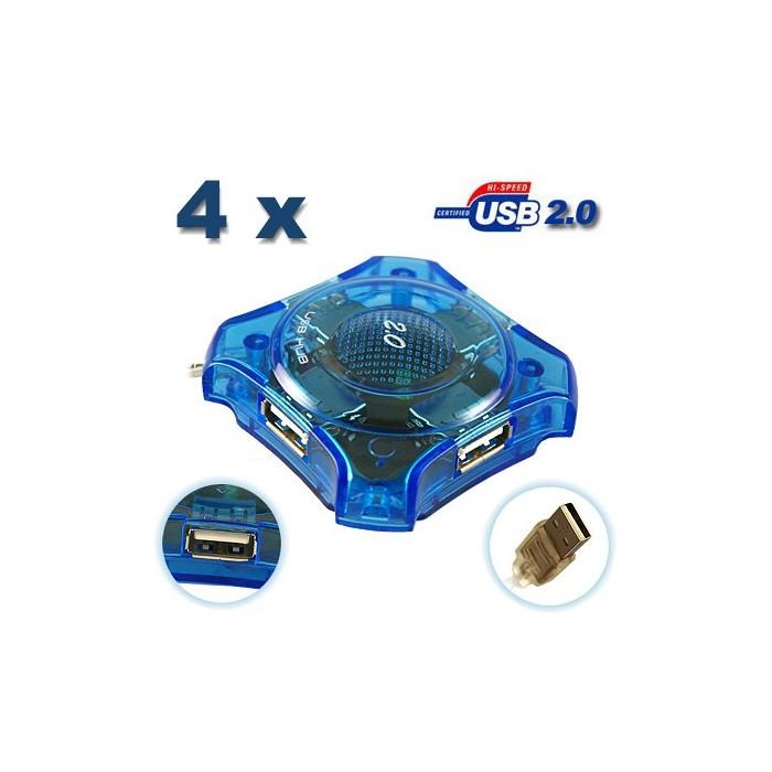 4 PORTOVÝ USB 2.0 HUB ROZBOČOVAČ 480Mbps HIGH SPEED
