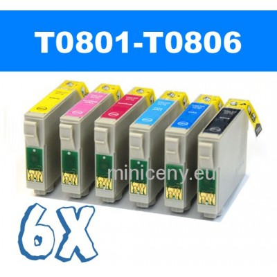 Sada T0801 - T0806 náplň do EPSON 6x18 ml / T0807 multipack