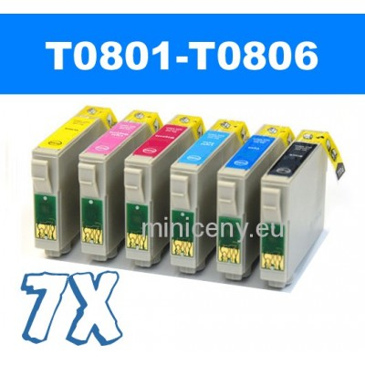 Sada T0801 - T0806 náplň do EPSON 7x18 ml / T0807 multipack