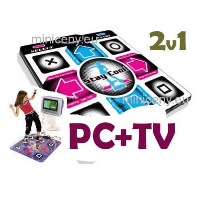Tanečná podložka 2v1, TV+PC - CHUDNUTIE, ZÁBAVA + PC HRA zdarma