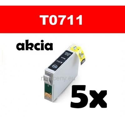 5x T0711 čierna - 18 ml náplň do tlačiarne EPSON