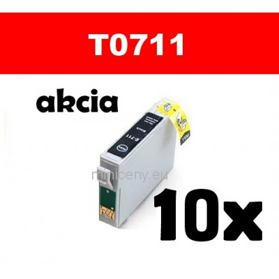 10x T0711 čierna - 18 ml náplň do tlačiarne EPSON