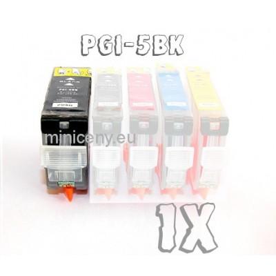Canon PGI-5BK s ČIPOM, 28ml náplň do tlačiarne CANON iP, iX, MP, MX, PRO