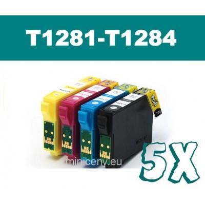 Sada T1281 - T1284 EPSON - náplň do tlačiarne 5x18ml / T1285 multipack