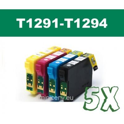 Sada T1291 - T1294 EPSON - náplň do tlačiarne 5x18ml / T1295 multipack