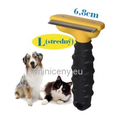 Hrebeň pre mačky a psy, stredne veľký - 6,8cm / kefa pre psy a mačky