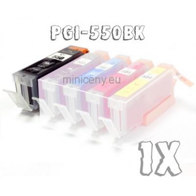 Canon PGI-550BK s ČIPOM, 25ml náplň do tlačiarne CANON iP, iX, MG, MX