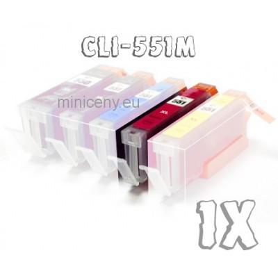 Canon CLI-551M MAGENTA s ČIPOM, 15ml náplň do tlačiarne CANON iP, iX, MG, MX