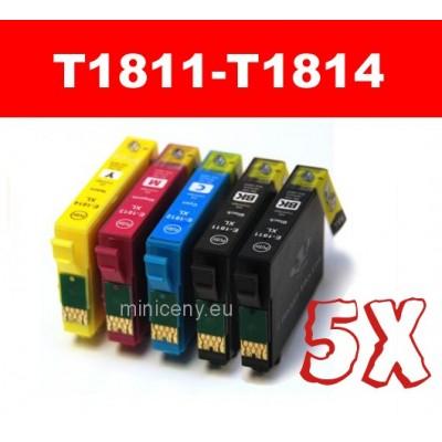 Sada T1811 - T1814 EPSON 18XL - náplň do tlačiarne 5x18ml / T1816 multipack