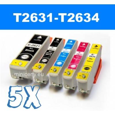 Sada T2631 - T2634 EPSON 26XL - náplň do tlačiarne 5x14ml / T2636 multipack
