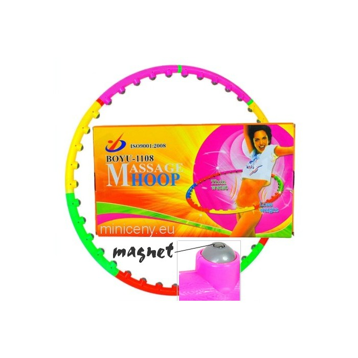 HULA HOOP + magnet - Masážna fitness obruč s masážou a magnetoterapia - 1m