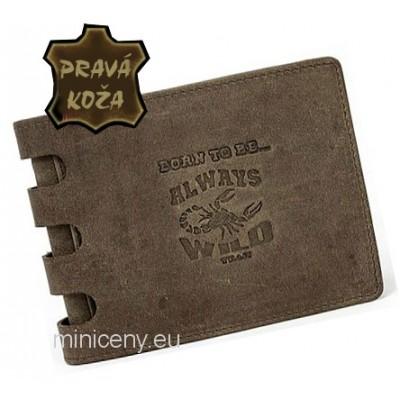 Exkluzívna pánska kožená peňaženka ALWAYS WILD /380 BROWN