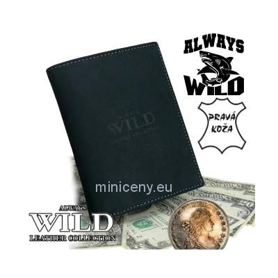 Exkluzívna pánska kožená peňaženka ALWAYS WILD /12 ČIERNA