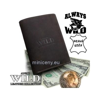 Exkluzívna pánska kožená peňaženka ALWAYS WILD /6 HNEDÁ