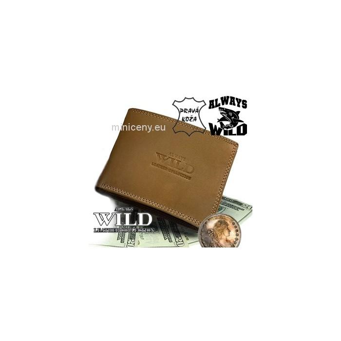 Exkluzívna pánska kožená peňaženka ALWAYS WILD /32 SVETLOHNEDÁ