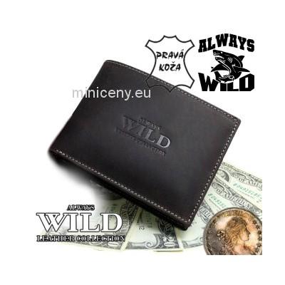 Exkluzívna pánska kožená peňaženka ALWAYS WILD /24 (363) HNEDÁ