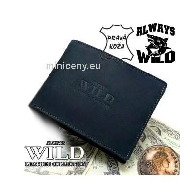 Exkluzívna pánska kožená peňaženka ALWAYS WILD /25 (86) ČIERNA