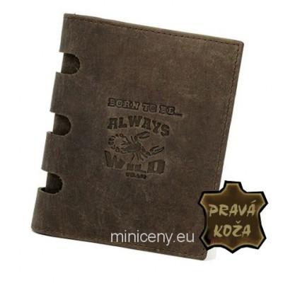Exkluzívna pánska kožená peňaženka ALWAYS WILD /*289 BROWN
