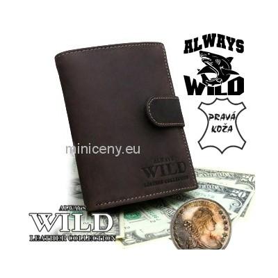 Exkluzívna pánska kožená peňaženka ALWAYS WILD /290 HNEDÁ