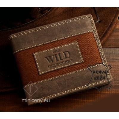 Pánska kožená peňaženka Casual Style ALWAYS WILD /292 BROWN