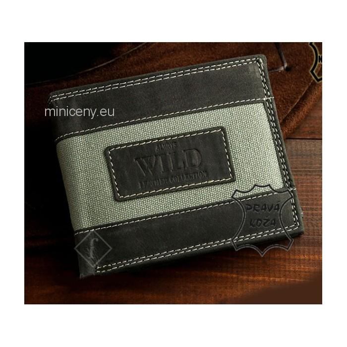 Pánska kožená peňaženka Casual Style ALWAYS WILD /296 ŠEDÁ