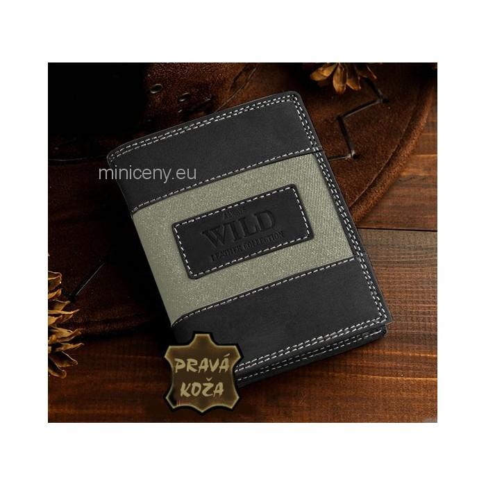 Pánska kožená peňaženka Casual Style ALWAYS WILD /297 ŠEDÁ