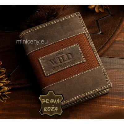 Pánska kožená peňaženka Casual Style ALWAYS WILD /295 HNEDÁ
