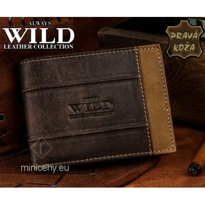 Exkluzívna pánska kožená peňaženka ALWAYS WILD /17 HNEDÁ