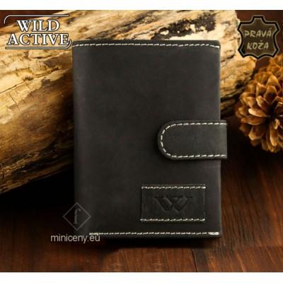 Exkluzívna pánska kožená peňaženka WILD ACTIVE /55 ČIERNA