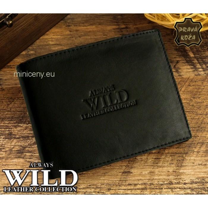 Exkluzívna pánska kožená peňaženka ALWAYS WILD /98 (286,5) ČIERNA 2