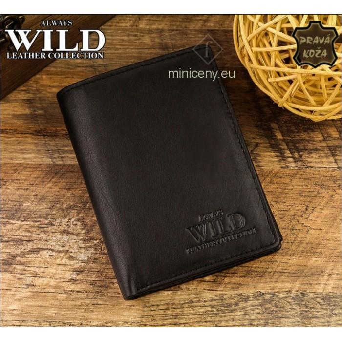 Exkluzívna pánska kožená peňaženka ALWAYS WILD /54 ČIERNA