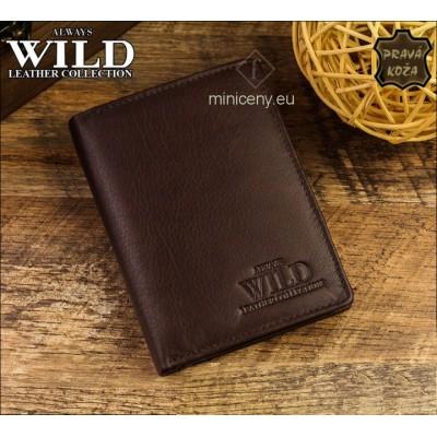 Exkluzívna pánska kožená peňaženka ALWAYS WILD /66 HNEDÁ