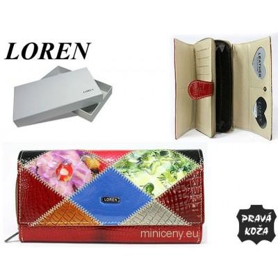 Exkluzívna dámska peňaženka LOREN kožená /309 KHAKI