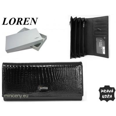 Exkluzívna dámska peňaženka LOREN kožená /313 BLACK