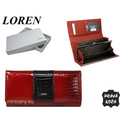 Exkluzívna dámska peňaženka LOREN kožená /338 RED