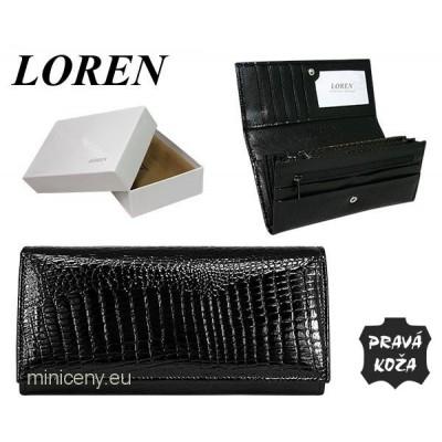 Exkluzívna dámska peňaženka LOREN kožená /315 BLACK