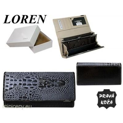 Exkluzívna kožená dámska peňaženka LOREN /339 BLACK