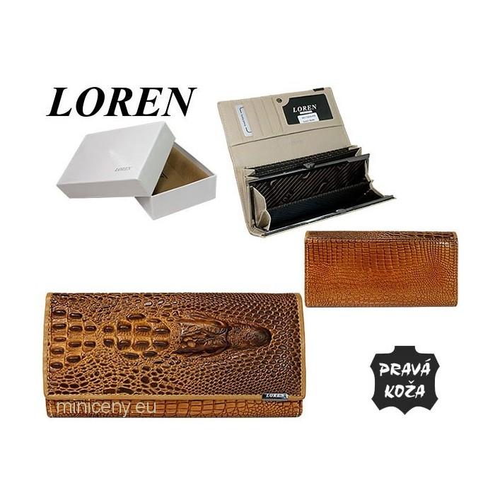 Exkluzívna kožená dámska peňaženka LOREN /340 GOLD