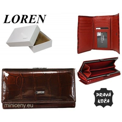 Exkluzívna kožená dámska peňaženka LOREN /329 BROWN