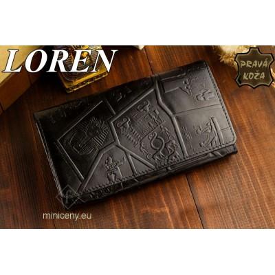 Exkluzívna dámska kožená peňaženka LOREN /361 BLACK