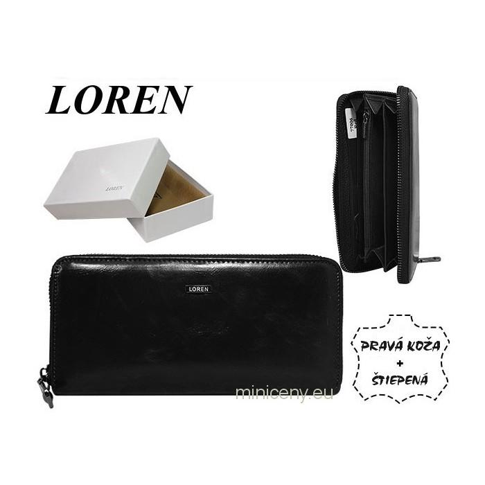 Exkluzívna dámska kožená peňaženka LOREN /319 BLACK