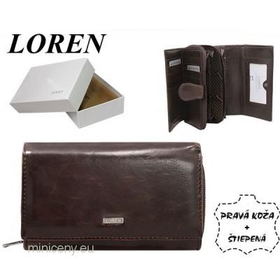 Exkluzívna dámska kožená peňaženka LOREN /321 BROWN