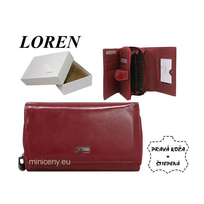 Exkluzívna dámska kožená peňaženka LOREN /323 RED