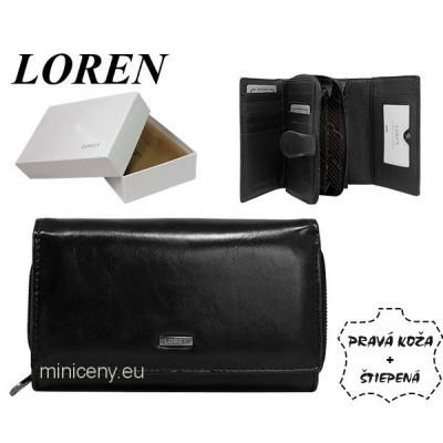 Exkluzívna dámska kožená peňaženka LOREN /347 BLACK