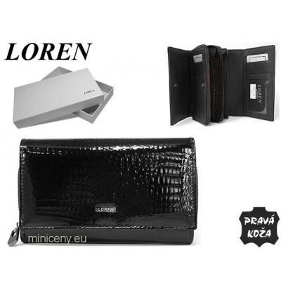 Exkluzívna dámska kožená peňaženka LOREN /308 BLACK