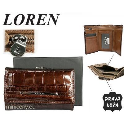Exkluzívna dámska kožená peňaženka LOREN /345 BROWN