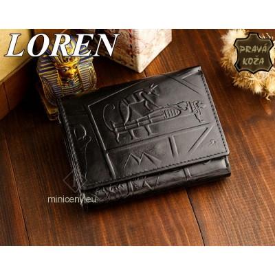 Exkluzívna dámska kožená peňaženka LOREN /362 BLACK