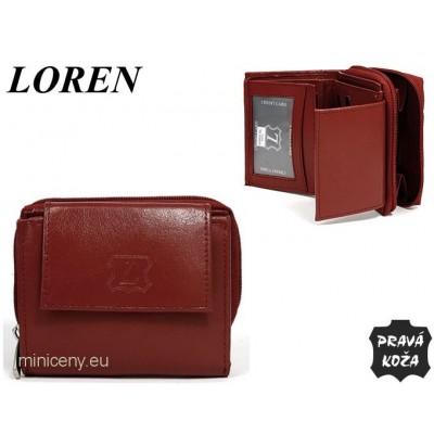 Exkluzívna dámska kožená peňaženka LOREN /355 BORDO