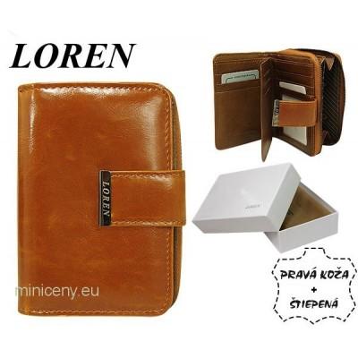 Exkluzívna dámska kožená peňaženka LOREN /324 CAMEL